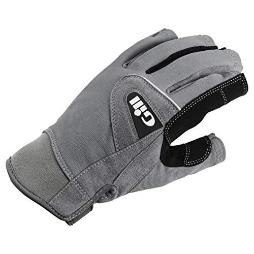 Gill Deckhand Kurzfingerhandschuhe - Erwachsene Unisex - Easy Stretch UV Sonnenschutz und SPF-Eigenschaften,Grau,L