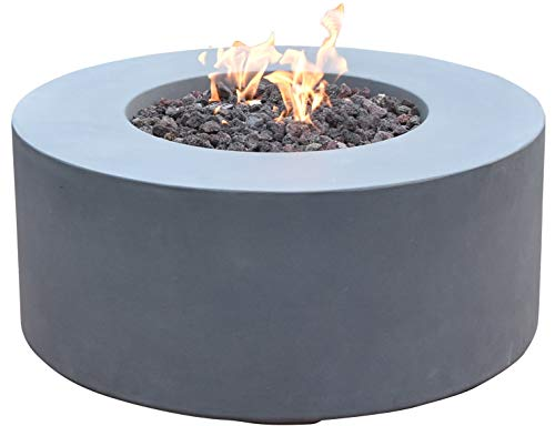 Venice Natural Gas Fiber Reinforced Concrete Patio Fire Place by Modeno