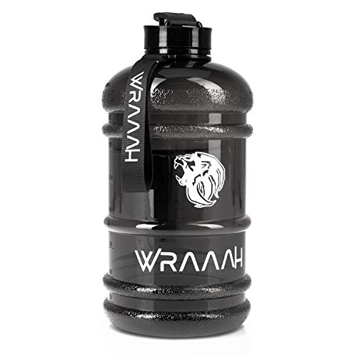 WRAAAH Trinkflasche 2L-Water Bottle-Wasserflasche 2 Liter-Sport Trinkflaschen-BPA Frei- Gym Sportflasche-2 Liter Trinkflasche Extra Stark