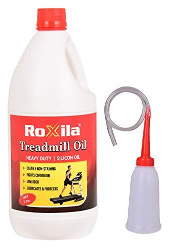 Roxila Pure Silicone Treadmill Lubricant Oil for Belt /High Viscosity with Oil Dispenser (1 L)