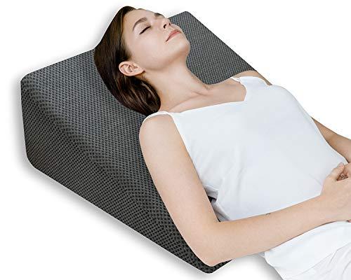 QUEEN ROSE Almohada terapéutica para la cama | Con espuma de memoria y funda lavable, diseñada por médicos para el dolor de espalda y cuello, mejor respiración y circulación y reflujo del ácido