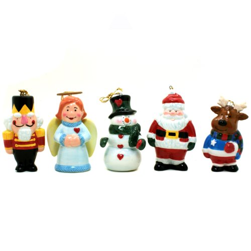 Stealstreet 17,8 cm Lot de 5 décorations de Noël Père Noël Angel Casse-noix en forme de Bonhomme de neige renne