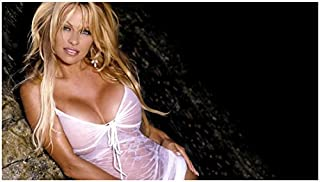 Pamela Anderson Leaning Deep See Through Cleavage Looking Lovely 8 x 10 Inch Photo