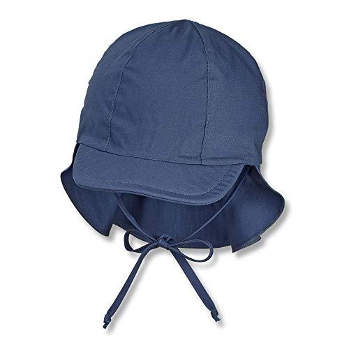 Sterntaler Schirmmütze m. Nackenschutz 1511410 Cold Weather - Gorro, Blau, 49 Unisex Baby