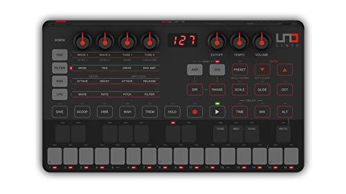 IK Multimedia UNO Synth - Sintetizzatore analogico monofonico, Facilmente programmabile, Ultra-portatile