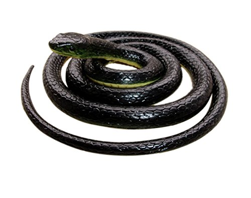 Realistic Rubber Black Snake 52 Inch Long Scare Toy by Brandon super