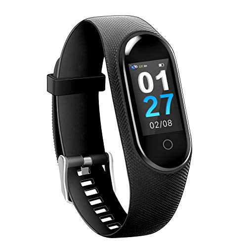 bosstouch Fitness Tracker Activity Tracker Watch with Heart Rate Monitor IP68 Water Resistant Waterproof Smart Fitness Band with Step Counter Calorie Counter Pedometer Watch for Best Gift (Navy Blue)