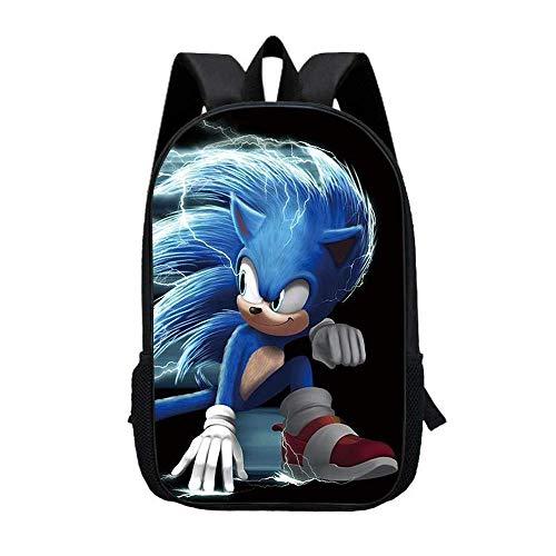 Mochila escolar Sonic, gran capacidad, para niños, conforme a la ergonomía, unisex, Anime Cosplay (Sonic6,13 pulgadas)