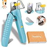 Pawsibility - 2021 Reinvented Pet Nail Clippers for Your Pal - Ultra Bright LED Light for Bloodline | Razor Sharp and Durable Blade | Vets Recommended Trimming Tool for Dogs and Cats - Aqua