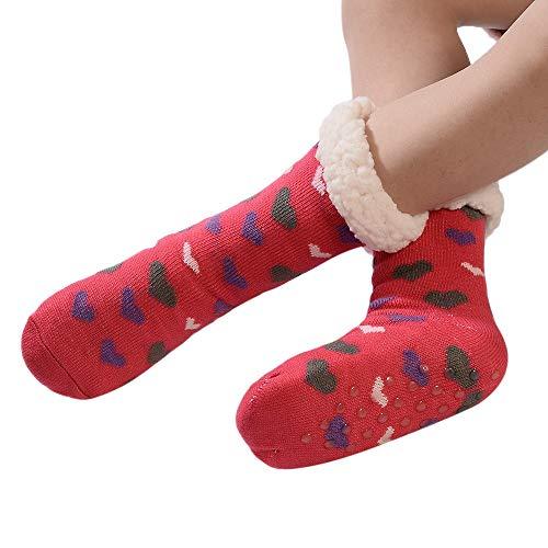Weihnachten FOANA Damen Thermosocken Kuschelsocken Winter Warme Dicke Süß Haussocken Mit Vollplüsch und Wolle Zeitlich begrenzt Begrenzte Menge