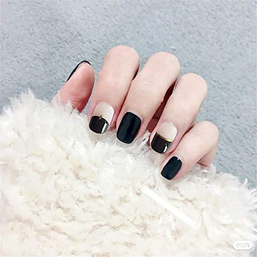 JJabc nieuwe nep nagel producten, Manicure patch draagbaar, korte platte hoofd nep nagel patch