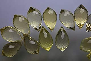 Jewel Beads Natural Beautiful jewellery 4 Match Pair, Super Rare AAA Natural LEMON QUARTZ Faceted Chandelier Shape Briolettes Calibrated Size 14mmCode:- JBB-37764