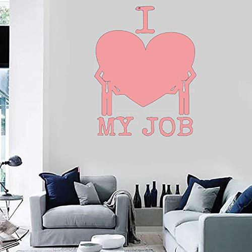 Me encanta mi trabajo Mensaje divertido para oficina Vinilo Adhesivos de pared Decoración para el hogar Accesorios para Conpany Aula Decoración color-2-9 42x53cm