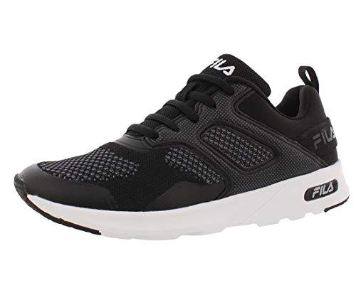 Fila Women's Memory Foam Frame V6 Athletic Running Shoes (7, Black/White)