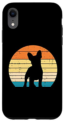 iPhone XR French Bulldog Sunset Retro Frenchie Dog Lover Owner Gift Case