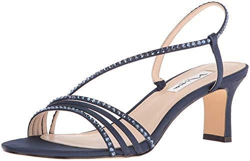 Nina Women's Gerri Dress Sandal, New Navy LS Sat/Navy Ston, 5.5 M US