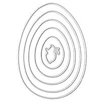 KaMan-Co カッティングダイセット炭素鋼イースターウサギ、エンボスステンシルテンプレート、型紙DIYアートクラフトスクラップブックブックカードの装飾