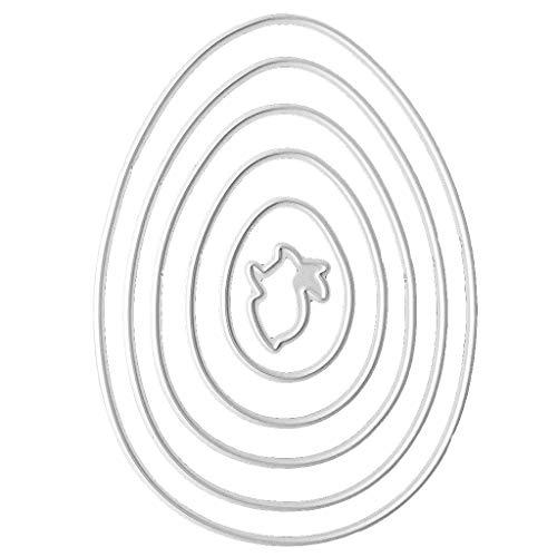GUMEI Acciaio al Carbonio Uova di Pasqua Coniglio Taglio Muore Set Goffratura Stencil Modelli Stampo Carta Fai da Te Art Craft Scrapbook Libro Carta Decor