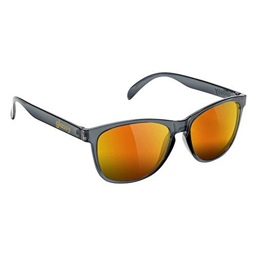 GlassY Sunhaters Deric Sonnenbrille Grau Klar Rot Spiegel