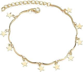 SKREOJF Anklet Dames Bracelet de la Cheville Fille Bracelets Femmes, Version d'un Simple Sexy Titanium Aceige Anklet Femelle.