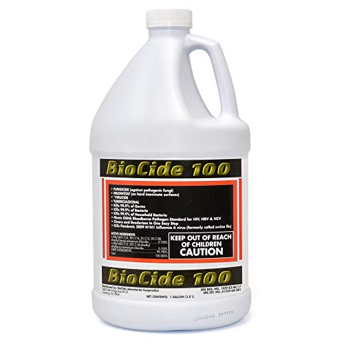 Biocide 100 Multi-Purpose Cleaner and Disinfectant Spray   DIY Mold, Mildew and Fungi Remover   Eliminates Bacteria, Germs and Viruses   1-Gallon