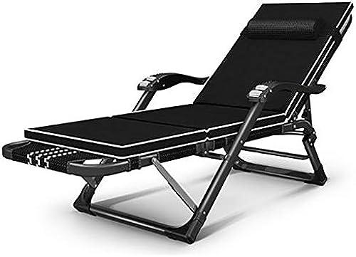 barato Qi Tai- Tumbona Silla Plegable - Sillón de de de Descanso para el hogar reclinable Cama Plegable para la Siesta Oficina multifunción Adulto ocioso Ocio Silla portátil de Playa (Color   D)  salida para la venta