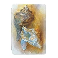 UDDesign ビーチ 貝殻 iPad 8 ケース 第8世代 iPad 10.2 ケース 第7世代 2019モデル 兼用 ケース スタンド機能 軽量 薄型 三つ折タイプ 全面保護型