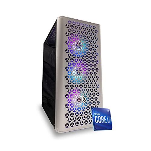 Pc desktop gaming completo Intel i7 9700 4.70Ghz, Ram 16 gb ddr4, Ssd 120gb + Hdd 1Tb, Scheda Video RX5500 8GB, Wifi Windows 10 Computer da gaming