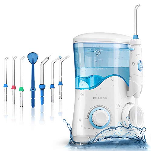 YOUNGDO Hydropulseur Jet Dentaire 600ML,Irrigateur Oral...