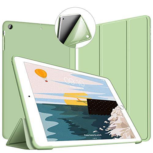 VAGHVEO Funda iPad Air, Carcasa con Magnetic Auto-Sueño/Estela Función Delgada y Ligéra Protectora Suave Silicona TPU Smart Cover Case para Apple iPad Air 1 (Modelo A1474, A1475, A1476), Verde