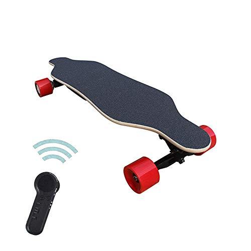 Skateboard, Elektro Kreuzer Skateboard Boosted Longboard Dual Motor mit Fernbedienung, 25 km/h Geschwindigkeit Lager Gewicht 80-100Kg, Holz.