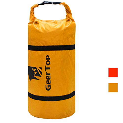 GEERTOP Ultralight 20D Waterproof Adjustable Tent Compression Bag Duffel Bag - For Camping Outdoor Sports (Yellow, For 1 man tent) ¡