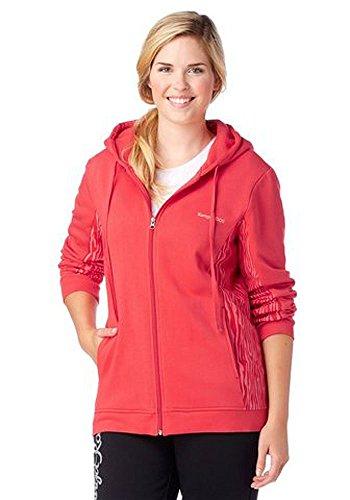 Kangaroos Damen Sweatjacke Sweat Jacke mit Kapuze Rot 40/42