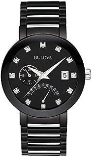 Bulova Men's 40mm Modern Diamond Accent IP Stainless Steel Watch (Certified Refurbished)