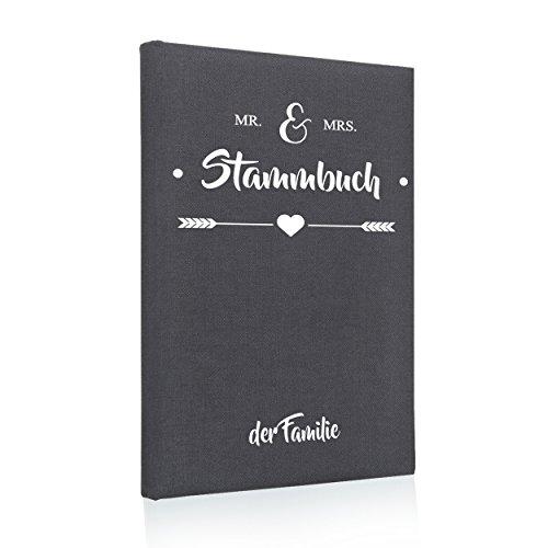 Hochzeitideal Stammbuch der Familie Mr. & Mrs. Leinen grau