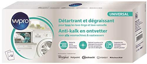 12 sachets de détartrant et dégraissant pour lave linge et lave vaisselle des131
