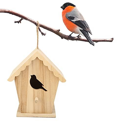 FEBT Casa de pájaros, casa de pájaros de Bricolaje Duradera casa de pájaros de jardín pajareras de Madera para el hogar para Exteriores para Interiores para jardín