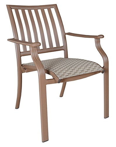 Panama Jack Island Breeze Stackable Sling Arm Chair, Espresso Finish