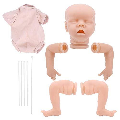 Kits muñecas Reborn 18 pulgadas, sin pintar, muñecas Reborn, suministros para hacer muñecas DIY Kits muñecas para niñas recién nacidas, muñecas realistas para bebés, muñecas Reborn para niños pequeñ