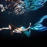 Cola de Sirena Cola de la Sirena se Puede Nadar del bikiní, Colas de la Sirena for Las niñas, for la natación Princesa del Bikini Traje de baño Set Presente de cumpleaños Sirena para Nadar