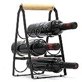Cozy Vibe Weinregal für 6 Flaschen faltbar, Metall-Kupfer-Weinhalter, freistehend, fertig montiert, einfach zu montieren