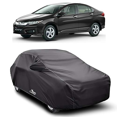 ROYALS CHOICE Water Resistant Car Cover for Honda City i-VTEC (Gray with Mirror Pocket)