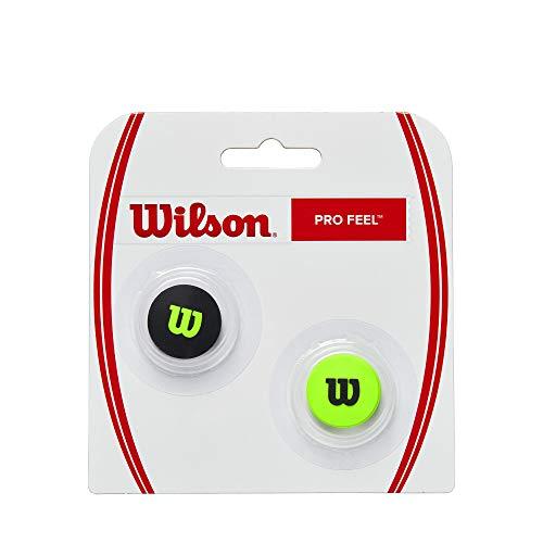 Wilson PRO Feel Blade DAMPENERS, Antivibrazioni per Corde da Tennis Unisex-Adult, Green, NS