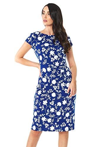 Roman Originals damesjurk met bloemenpatroon - elegante jurk voor formele gelegenheden, feestjes, cocktails, bruiloften, lente, zomer