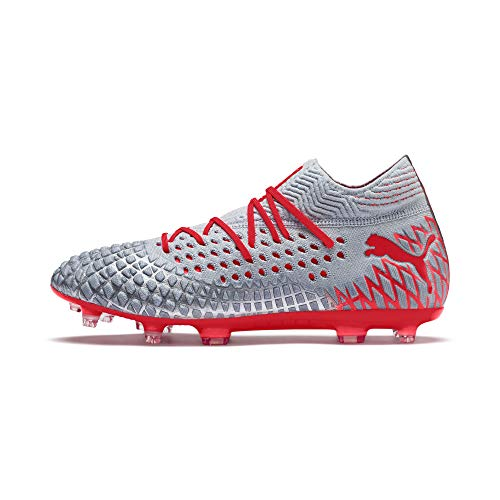PUMA Future 4.1 FG, Crampons de Football - Glace/Rouge - Taille 43