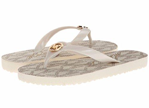Michael Kors Flip Flops Rubber Vanilla Size 11 Womens Sandals