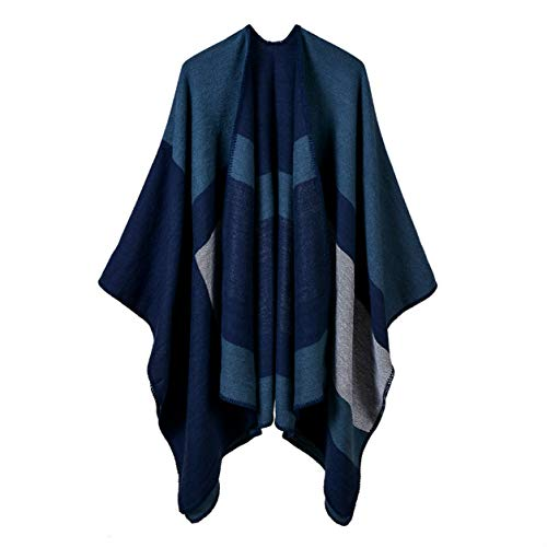 FXYY Poncho De Bufanda De Invierno Poncho Estampado para Mujer Capa Chales De Gran Tamaño Abrigos Abrigo De Invierno Cálido (Múltiples Opciones)