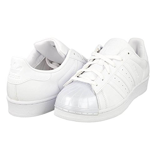 adidas Damen Superstar Glossy Basket, Bianco (Ftwwht/Ftwwht/Cblack), 42 2/3