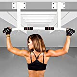 Perfect Fitness Multi-Gym Doorway Pull Up Bar and Portable Gym System White