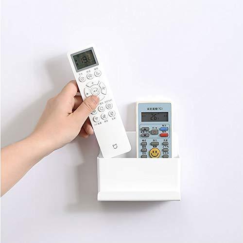 Soporte para mando a distancia de TV, montaje en pared, organizador de mando a distancia, color blanco